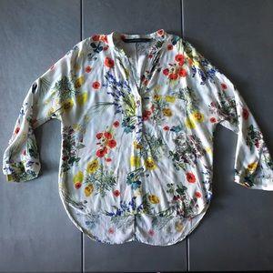 Zara Woman floral top 🌸